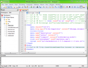 notepad++ IDE
